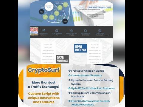 Dva fenomenalna i stabilna sajta za dobru zaradu novca Diversity i Crypto Surf