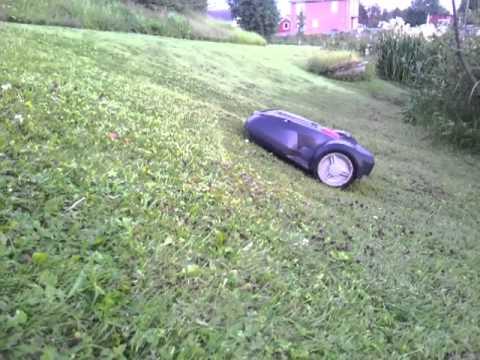 robotgräsklippare 45 grader
