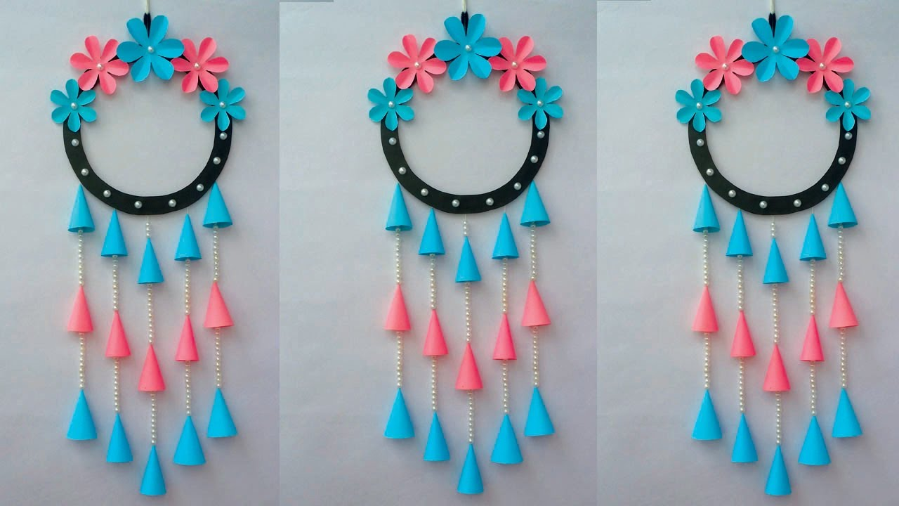 DIY: Wall Hanging Crafts Ideas! How to Make Paper Flower Hanging/Easy Wall Hanging with Colour Paper
