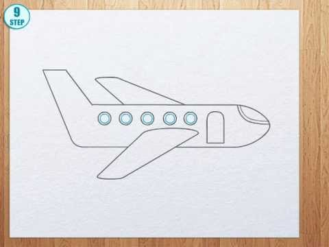 How To Draw A Plane Youtube