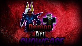 Demon Slayer - Demon Art showcase | ROBLOX | (text fixed in the new vid)