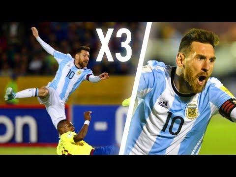 6 Triplés MAGIQUES de Lionel Messi !