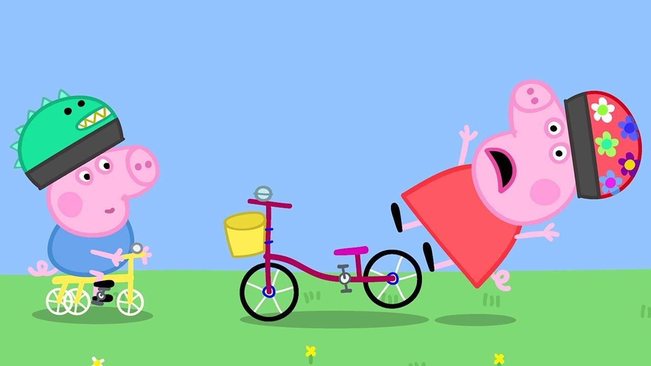 Peppa pig italiano biciclette con cartoni
