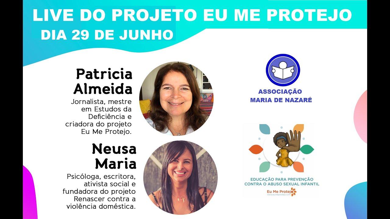 Neusa Maria e Patricia Almeida na apresentação do Eu Me Protejo na Associação Maria de Nazaré/DF