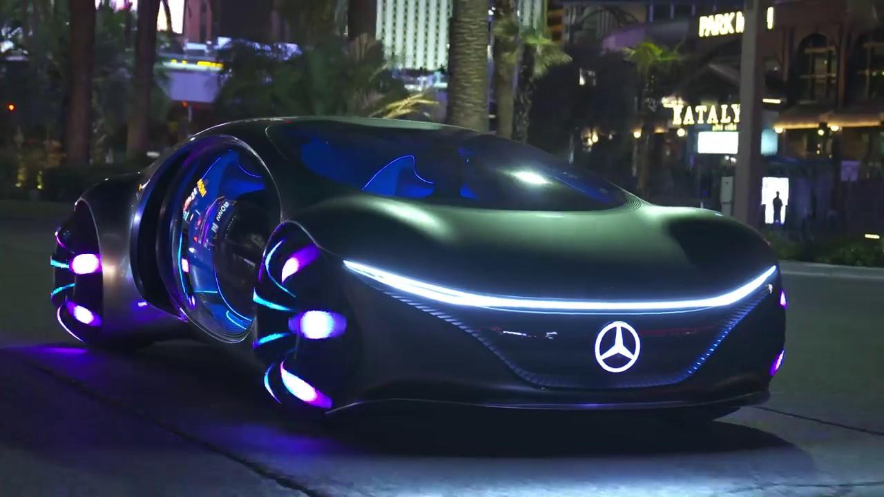 2020 Mercedes-Benz AVTR Driving at the Las Vegas Strip ...