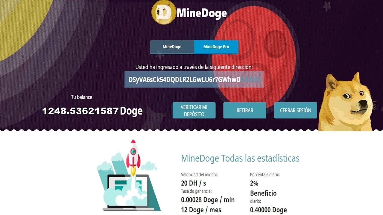 NUEVAS PAGINAS DE MINERIA DOGECOIN