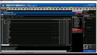 2018 Fantasy Baseball Roto Live Draft