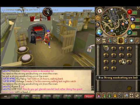 Runescape - How To Make Strong Woodcutting Urns L SOME L33T CRAFTING XP