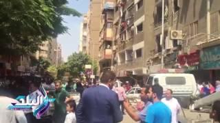 تحطم واجهات محلات وتهشم سيارات فى انفجار غامض بحدائق المعادى..فيديو و صور
