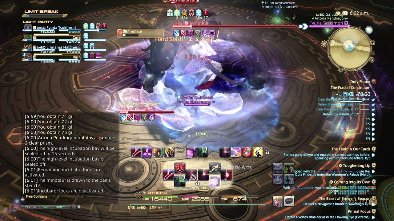 FFXIV: Heavensward Gameplay - 65 - Dark Knight - Fractal Continuum