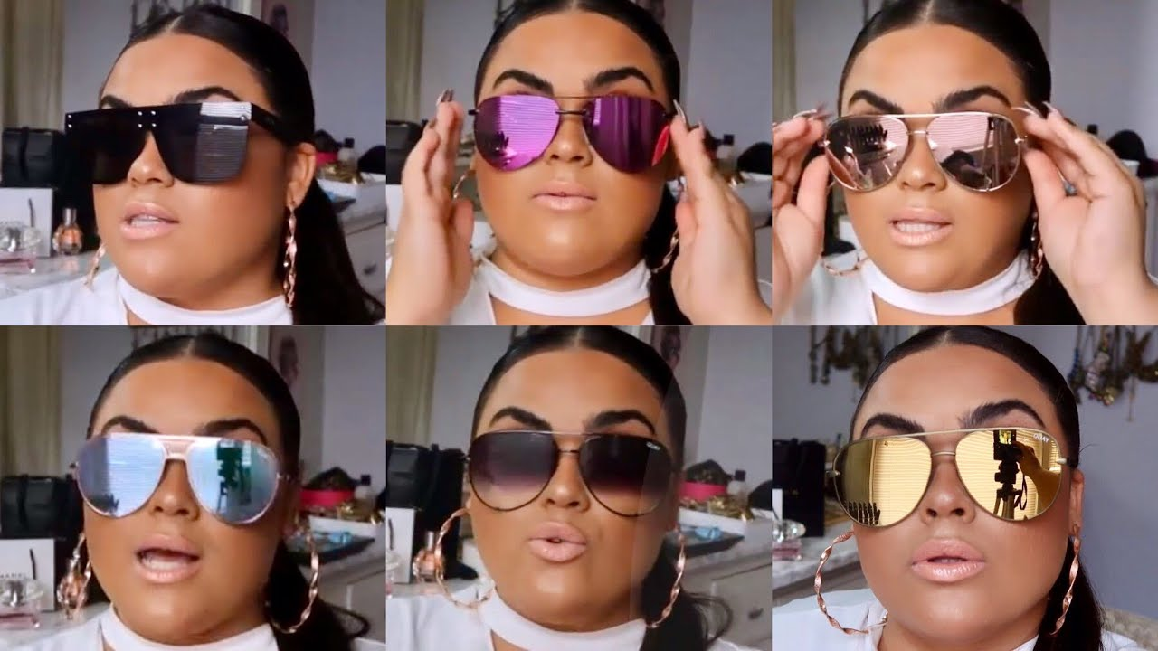 cda1ee70525451 QUAY SUNGLASS COLLECTION   REVIEWS♡♡  GABRIELLAGLAMOUR - YouTube
