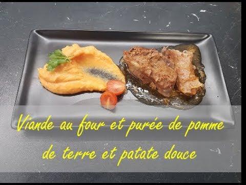 viande-au-four-et-purée-de-pomme-de-terre-et-patate-douce---اللحم-في-الفرن-و-بطاطا-مطحونة