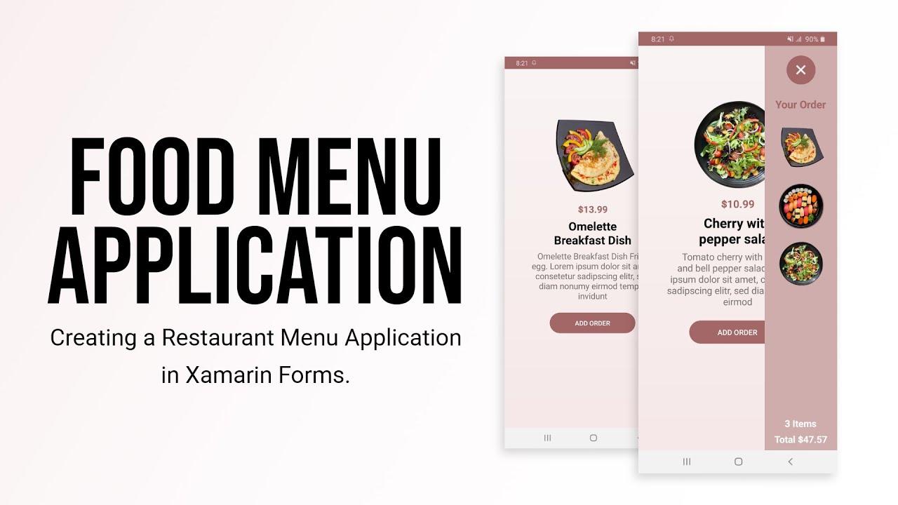 Food Menu App in Xamarin Forms   Using Ellipse Geometry in Xamarin Forms