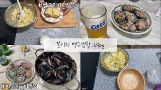 [브이로그] 집순이 간단한 요리와 안주 만들어먹기 (감…