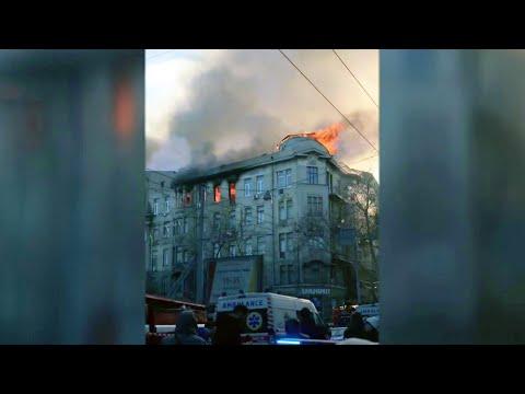 Пожар в Одесском колледже экономики и права мог произойти из-за неисправного электрообогревателя.
