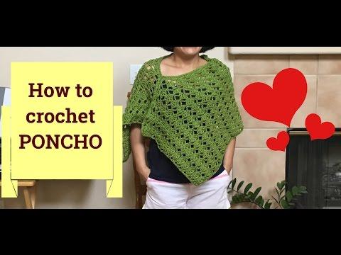 Easy to crochet PONCHO