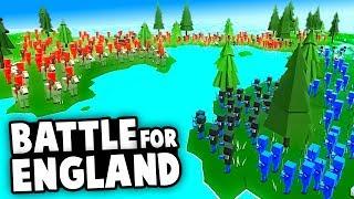 England vs Ireland and France!  MASSIVE Invasion Defense (Ancient Warfare 3)
