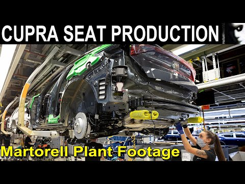 🏭 Cupra Seat Produktion Martorell Production Plant Assembly Line Footage Spain