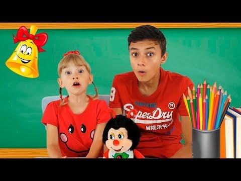 Alеna and Pasha in school show animals Kids pretend play by Chiko TV