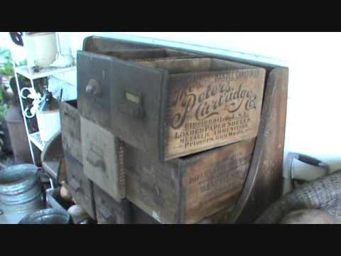 Antique Ammo Wood Boxes Barn Find Sodus, MI