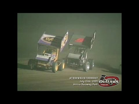 #ThrowbackThursday: World of Outlaws Sprint Cars Attica Raceway Park July 13th, 2005