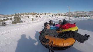 Snow Tubing - Snowtubing Fun POV at Gorgoza Park in Park City Utah