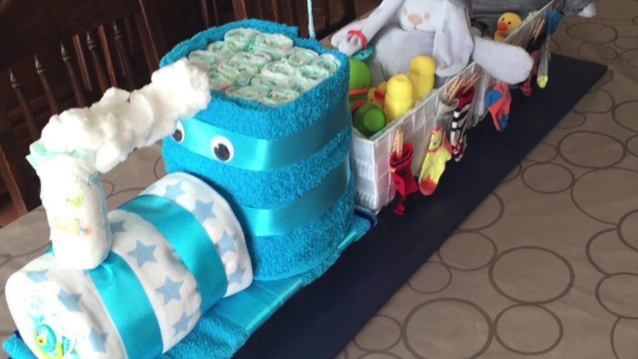 Youtube How To Make A Train Diaper Cake