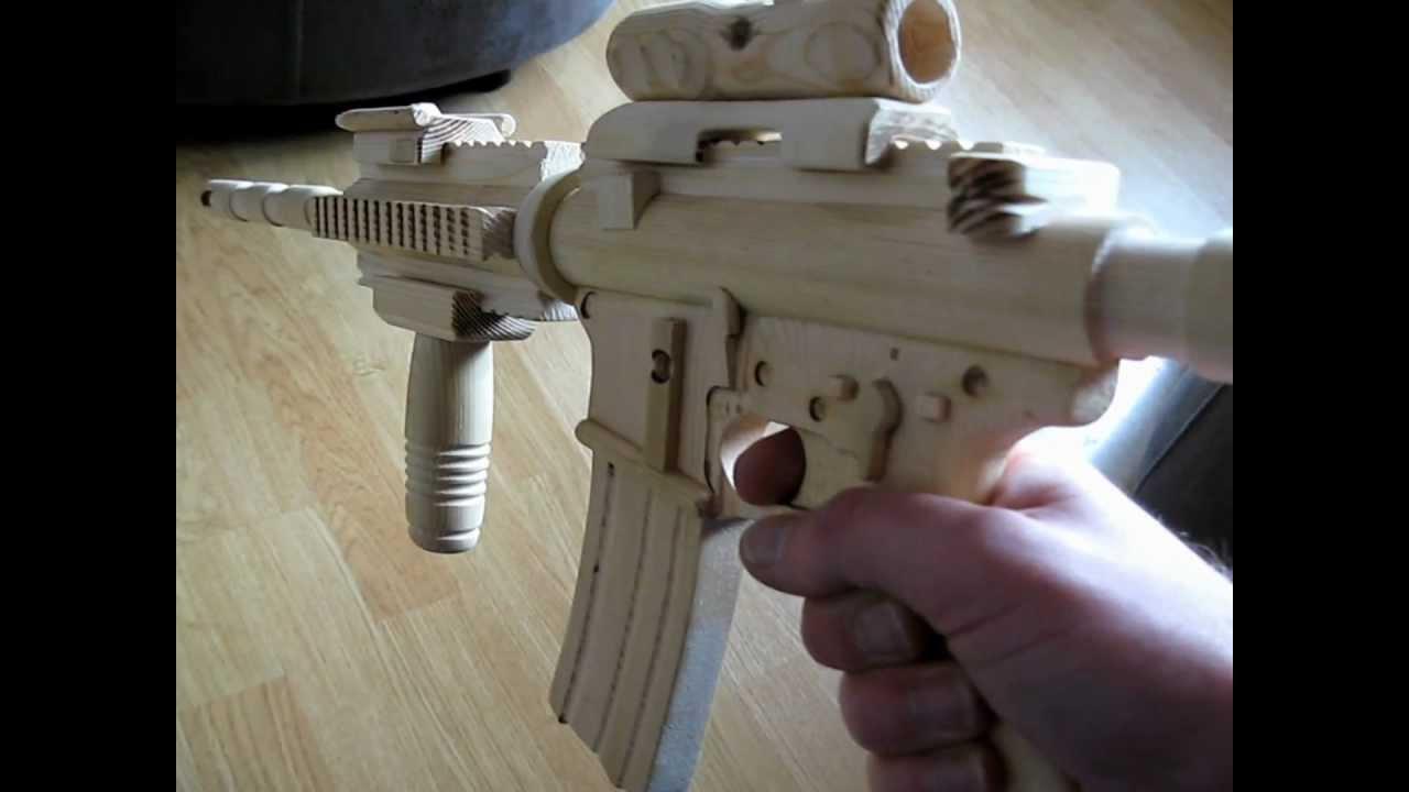 Homemade M4A1 SOPMOD Carbine Wooden Gun Assault Rifle ...
