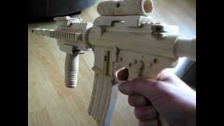 Homemade M4a1 Sopmod Carbine Wooden Gun Assault Rifle