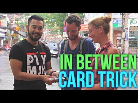 Card Trick Revealed: Free Card Tricks: In Between Card Trick Ft. Petey Majik