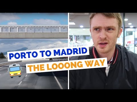 Porto to Madrid Bus Ride | Spain Travel Vlog