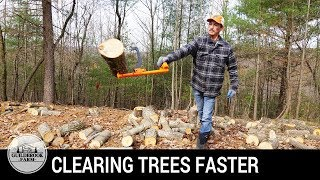 Off Grid Home Build (#2):  Clearing, Bucking, Splitting and Stacking Firewood