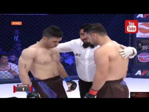 Milad Khosravi (Iran) vs Jan Aqa Noori Afghanistan -MMA - AFC - Knockout 2016 11 24