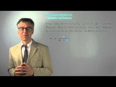 OFAÜ6 Adsorption nach Langmuir - Sättigungsbelegung, Adsorptiv-Konzentration und Langmuir-Konstante