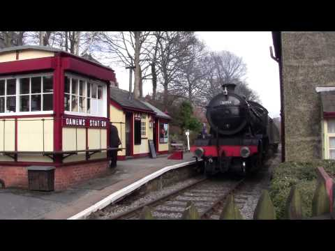 Keighley and Worth Valley Railway - Winter Steam Spectacular 2014 - Damems Station