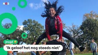 Kinderen breken wereldrecord bokspringen