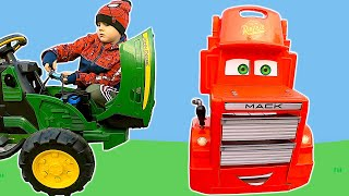 The Tractor broken down | Timko pretend play mechanic and calls parents for help
