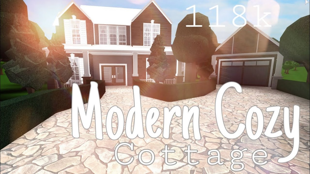 Roblox Bloxburg Modern Cozy Cottage 118k Bloxburg House Youtube