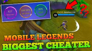 BIGGEST CHEATER OF MOBILE LEGENDS... JessNoLimit???