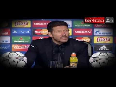 Rueda de Prensa Cholo Simeone Real Madrid 1-1 Atletico de Madrid (5-3) Final UCL 2016
