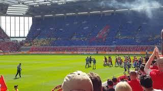 Mainz 05 - RB Leipzig Einlauf mit Choreo ( 29.04.18 )