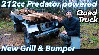 212cc 6.5HP Predator powered Quad truck