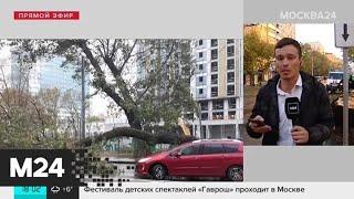 Смотреть видео На Москву обрушился сильный дождь с градом - Москва 24 онлайн