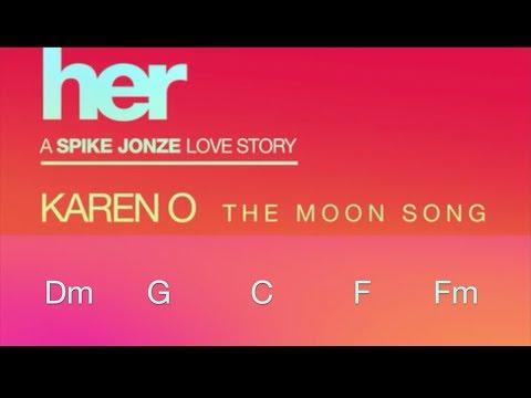 Karen O —The Moon Song chord karaoke
