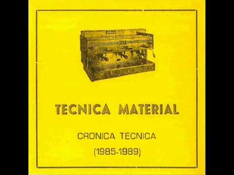Tecnica Material - Solo De Mañana ( 1985 Spain Industrial Experimental)