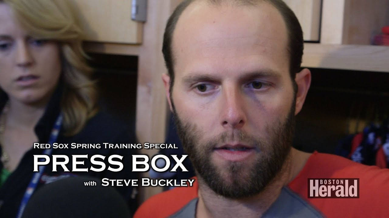 Press Box : Red Sox Spring Training Dustin Pedroia talks about the new season