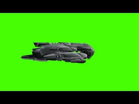 UFO spaceship in green screen free stock footage
