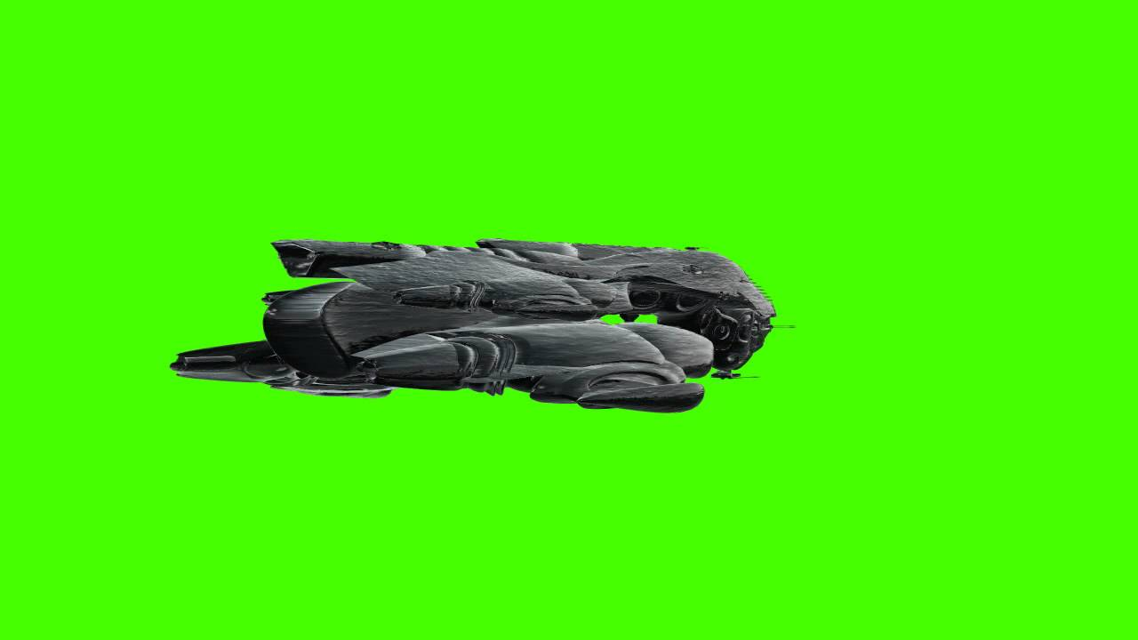 UFO Spaceship In Green Screen Free Stock Footage