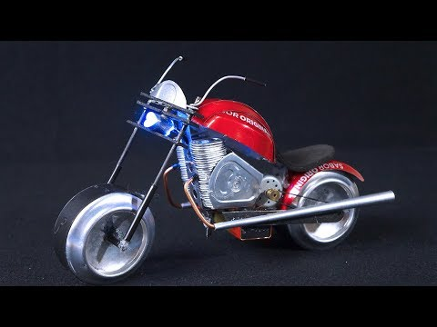 How To Make Electric Motorcycle with Coca-Cola cans