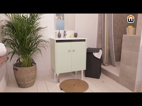relooker un meuble de salle de bain diy youtube. Black Bedroom Furniture Sets. Home Design Ideas